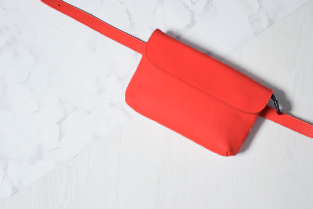 The bum bag, bum bag, & other stories, summer trend, sale, shopping, 2015, minimal, bright orange, leather