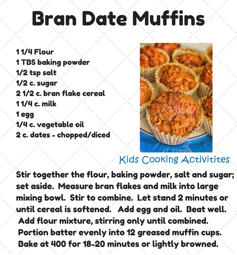 Bran Date Muffins Recipe with a Step by Step Picture Recipe
