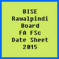Rawalpindi Board FA FSc Date Sheet 2017, Part 1 and Part 2