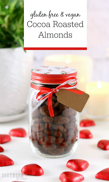 Healthy Cocoa Roasted Almonds Recipe – gluten free, vegan, paleo, clean eating recipe, sugar free chocolate covered almonds, low carb