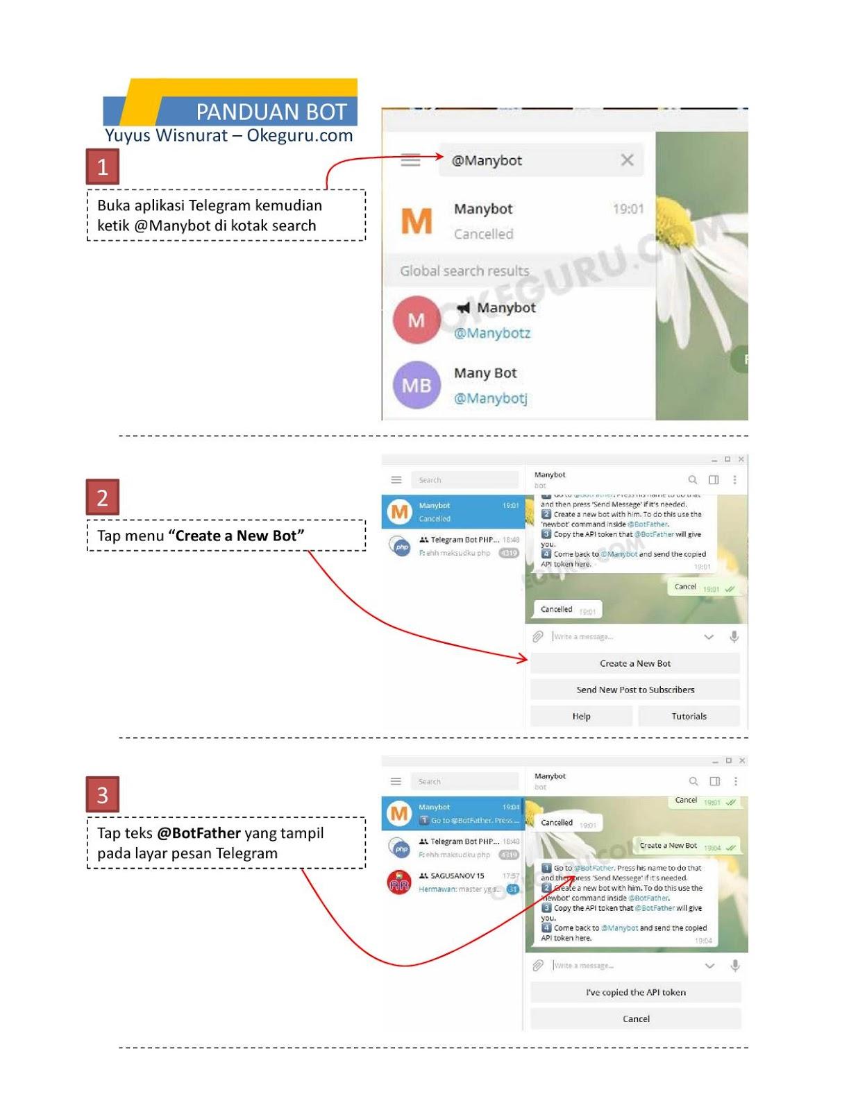 Cara membuat bot telegram 1