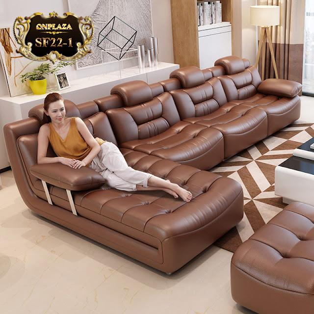 Mẫu sofa da cao cấp SF22