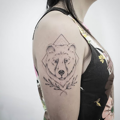 girly bear tattoo for sleeve