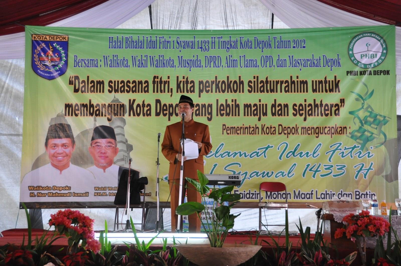 Humas Kota Depok Halal Bihalal Idul Fitri 1 Syawal 1433 H Tingkat