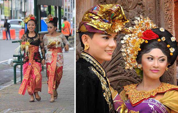Pakaian Adat Pengantin Bali