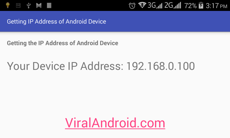 How to Get the IP Address of Android Device Programmatically