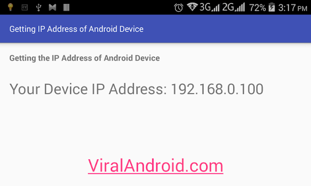 Android Example: Getting the IP Address of Android Device