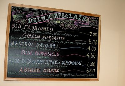Drink specials at the Wanigan