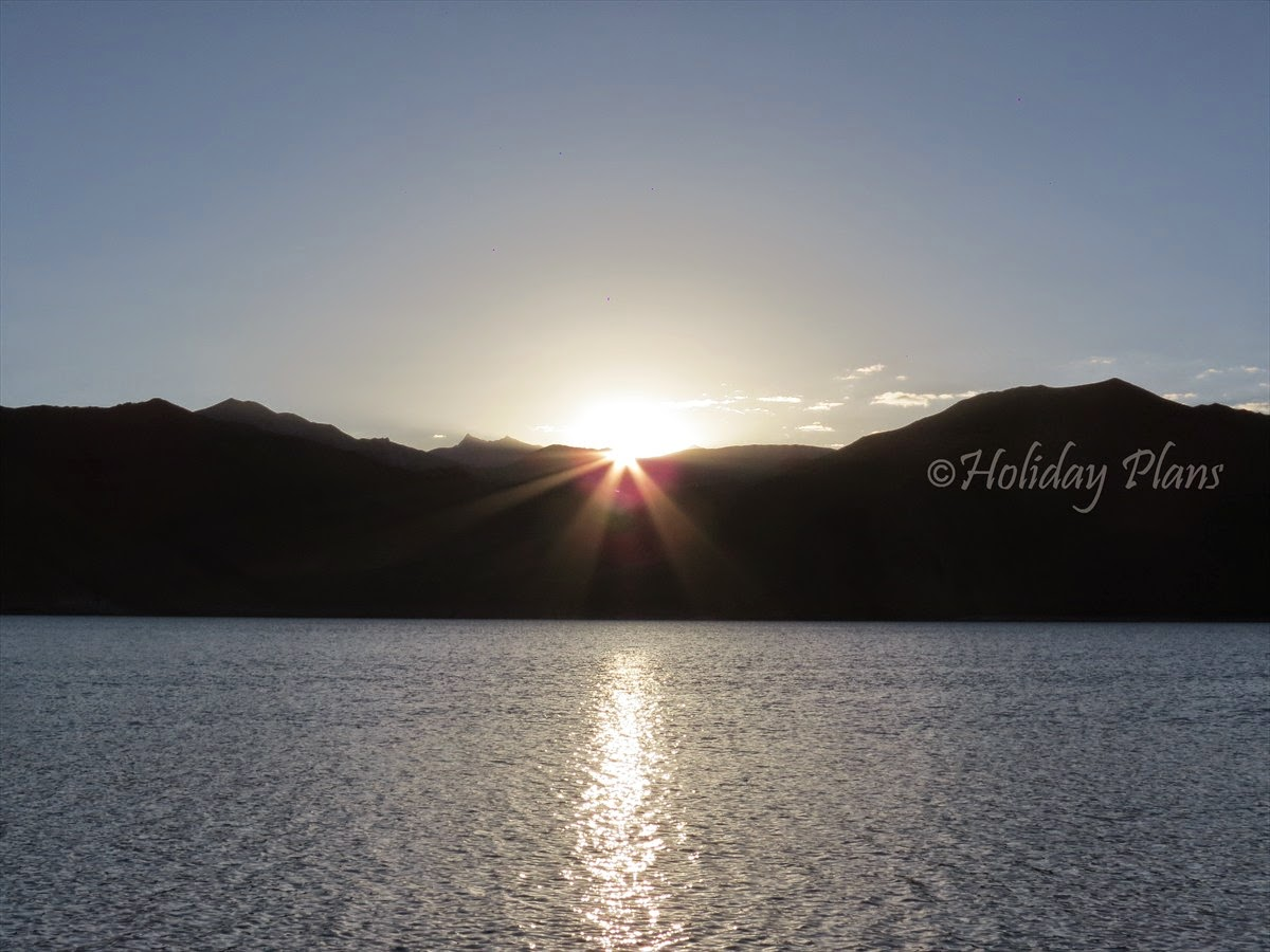 Sunrise at Pangong lake