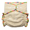 Organic Cotton & Hemp Fitted Cloth Diaper (Includes 2 Inserts; Fits 7-30lbs)