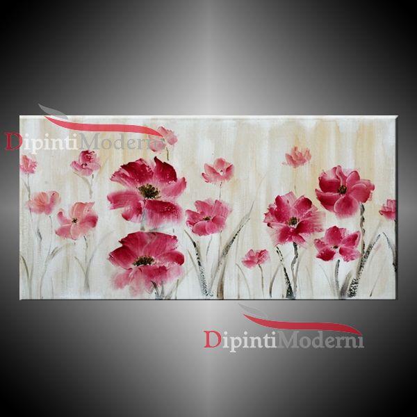 Arredare Con Un Quadro Moderno E Fiori Rosa Quadri Moderni Dipinti