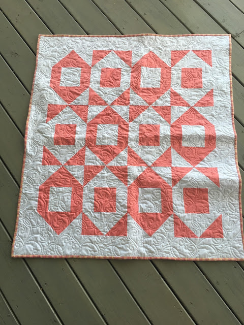 Baby quilt from Sew Sampler box from Moda charm pack