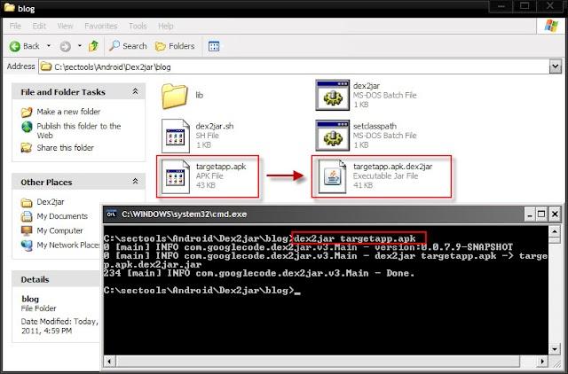 Ubah file berekstensi apk ke java