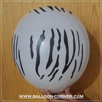 Balon Latex Print Motif Zebra