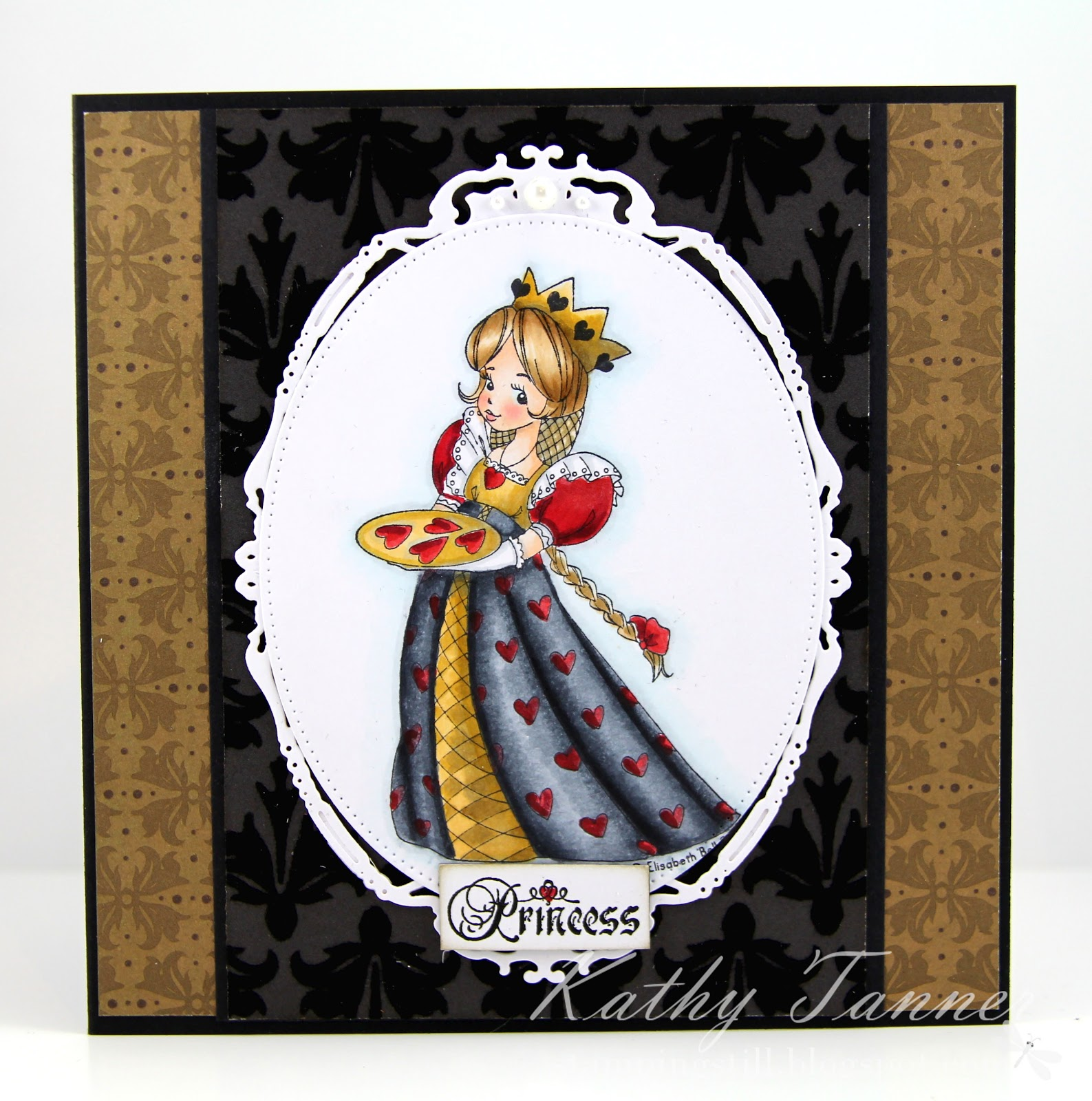 Princess of Hearts, Whimsy Stamps, Elisabeth Bell