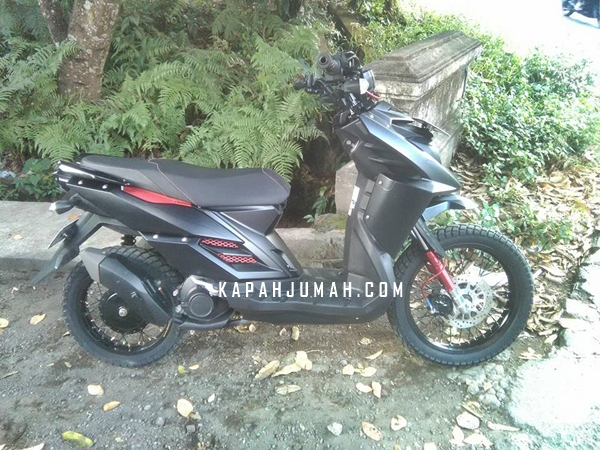 Modifikasi Yamaha X Ride Black Matte Supermoto