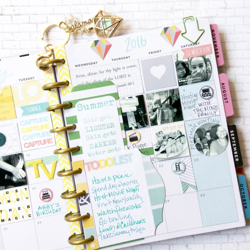 Planner Spread by Janet Perafan-Babar: Clique Kits Raskog July 2016 Kit