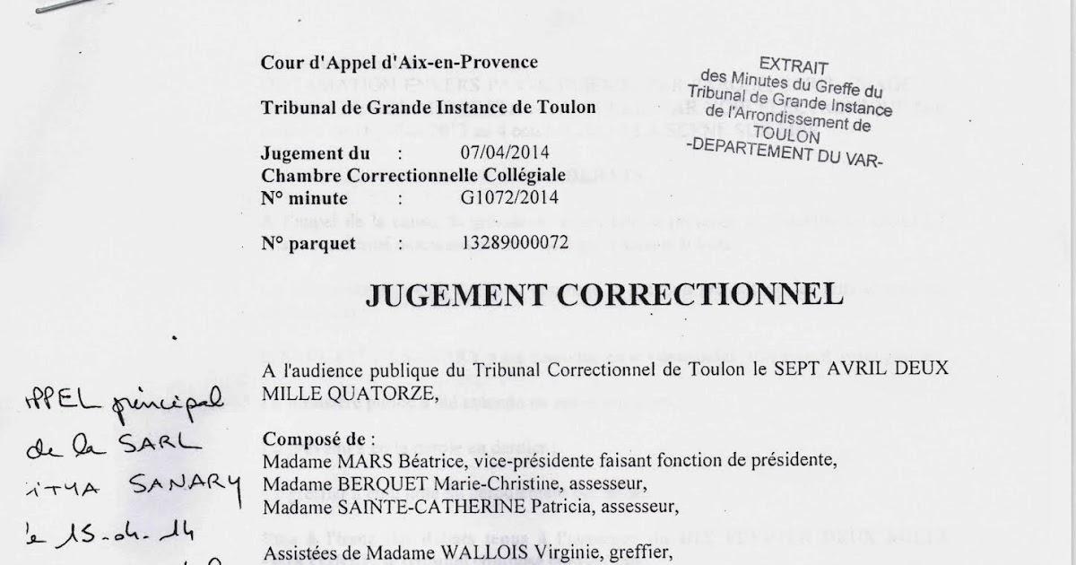Citya Sanary A Perdu Instance Dcision De Justice Tgi Toulon