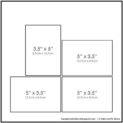 ¡Ven y aprende como usar el mismo boceto de scrapbooking en hasta 10 variaciones diferentes! | http://bit.ly/zisierra46