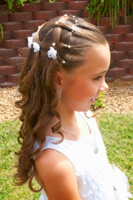 Formas modernas de peinados niña comunion Imagen De Cortes De Pelo Tendencias - PEINADOS DE NIÑAS: PEINADOS DE PRIMERA COMUNION
