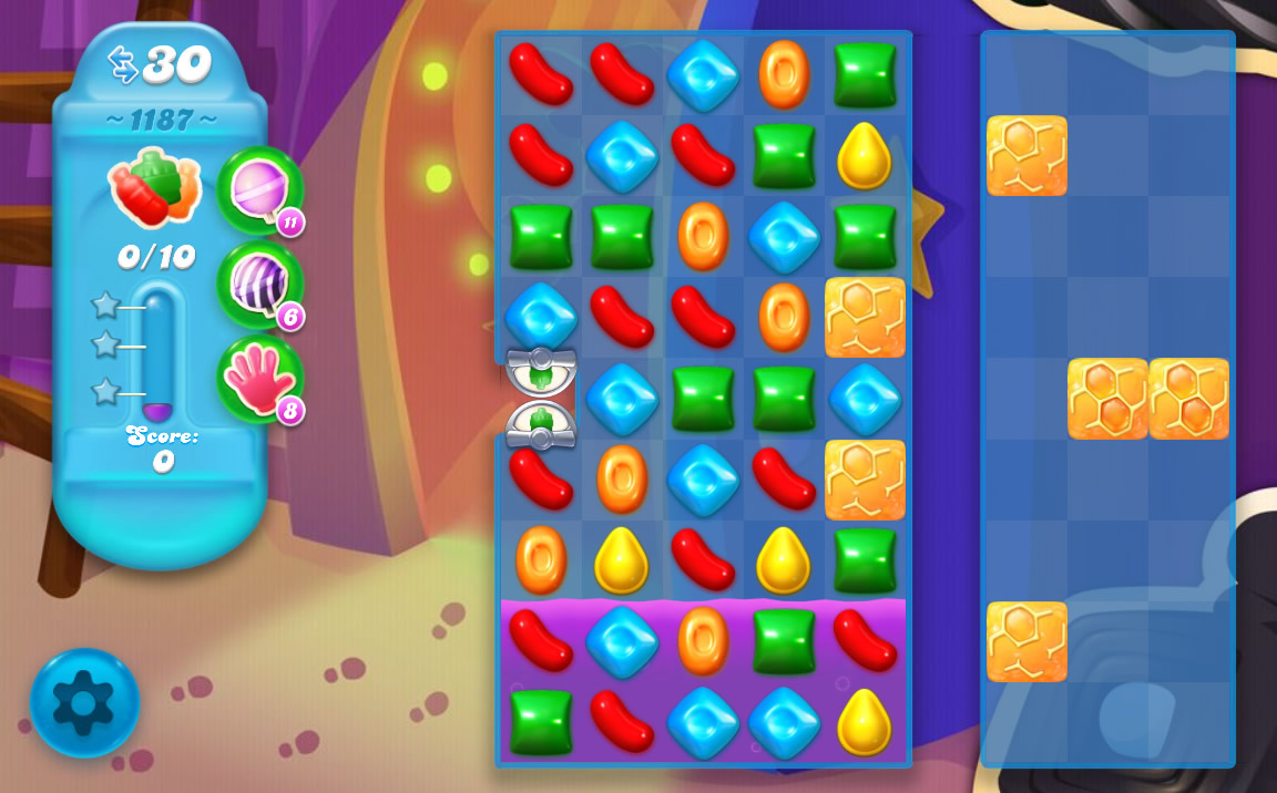 Candy Crush Soda Saga level 1187