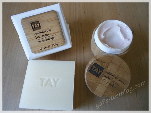 TAY essential oils bar soap - TAY safflower seed night cream