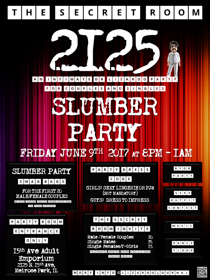 The Secret Room 2125:Slumber Party at 15th Ave. Adult Theater Party Room in Chicago!