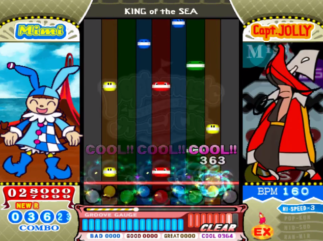 pop'n music BEMANI King of the Sea screenshot Mimi Capt. Jolly