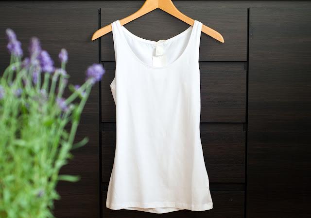 top H&M basic biały