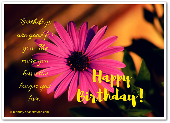 Beautiful, Flower, Birthday Card, Birthdays, Happy Birthday,