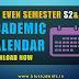B.Tech Academic Calendar January 2017 to July 2017 [Even Semester S2-S4]