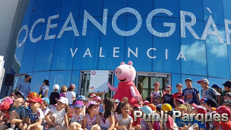Peppa Pig en el Oceanogràfic el año pasado.