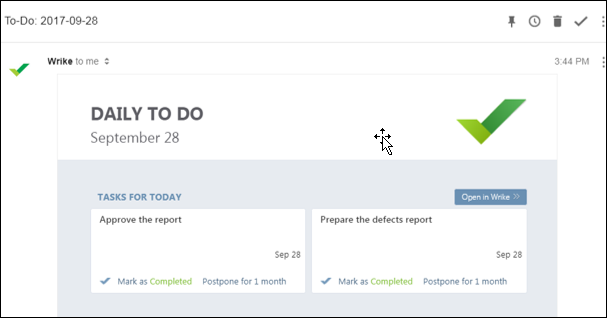 Email Reminders in Wrike Software