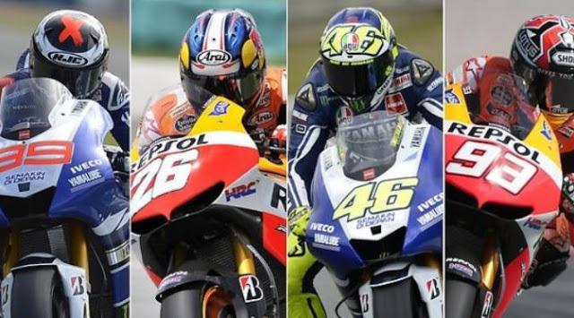 GP Prancis : Lorenzo Juara, Rossi Menggila, Marquez Kedodoran Ditikungan.