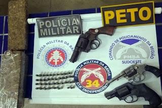 Armas de fogo e droga