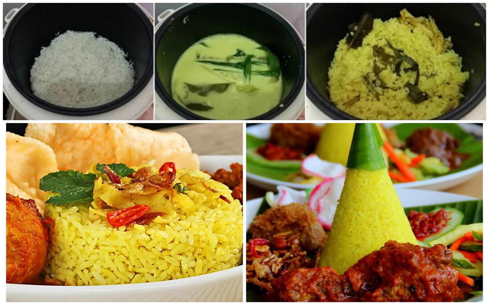 Resep Nasi Kuning Komplit Super Praktis Pakai Rice Cooker | Resep Dapur Praktis