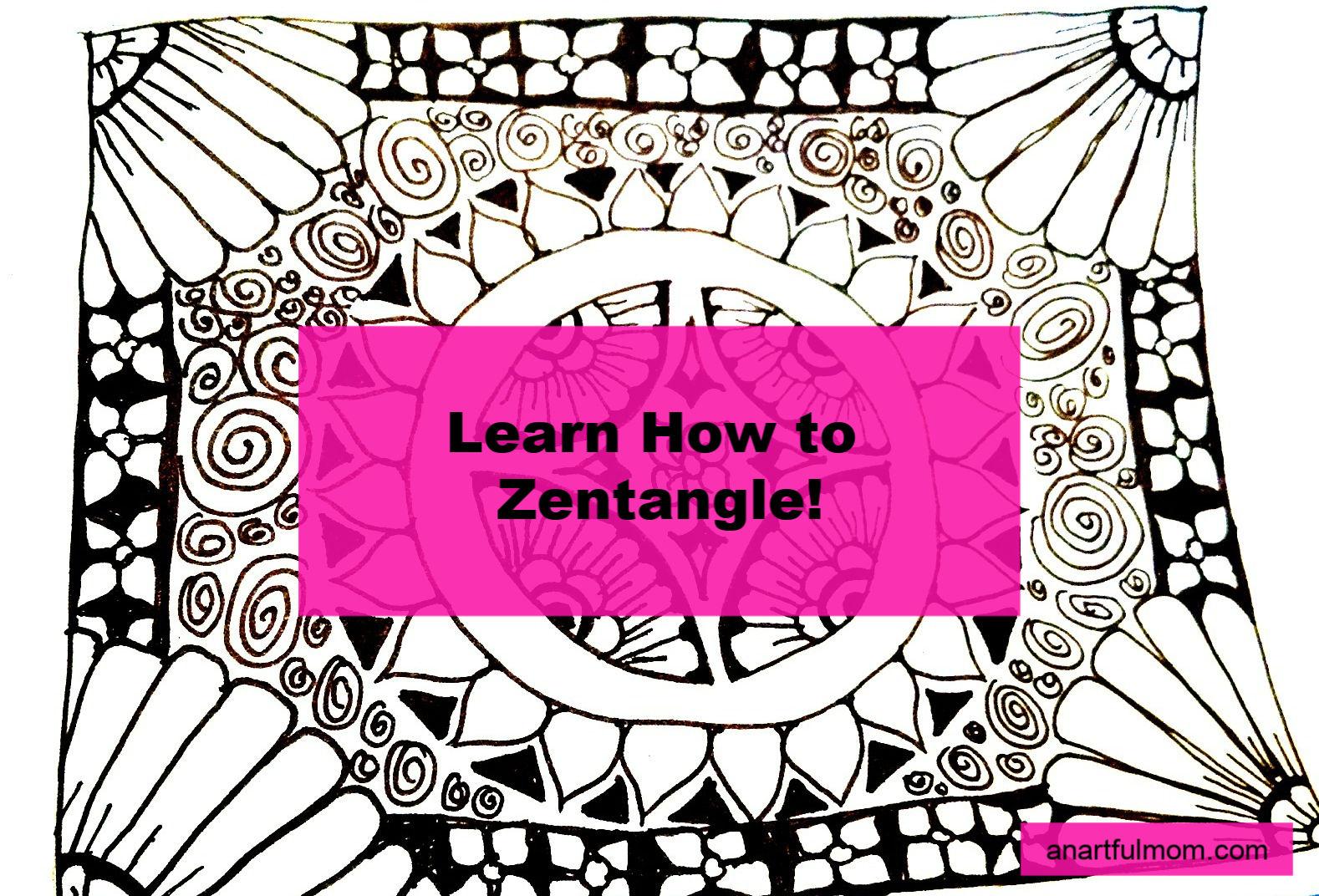 How to Zentangle for Doodlers, bullet journaling, and artists. #zentangle #doodling #bullet journal