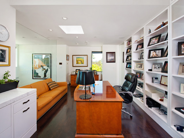 Photo of modern home office interiors in the Bel Air amazing home