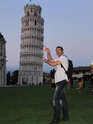 fotos lol en la torre de Pisa