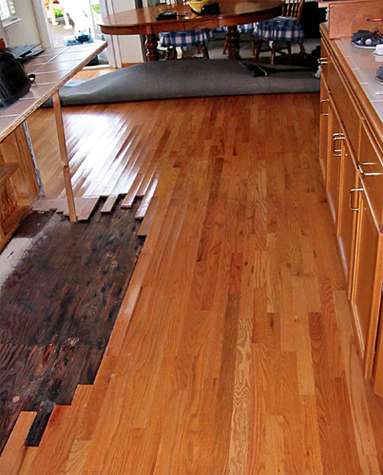 Handling Wooden Floor Damaged By Water