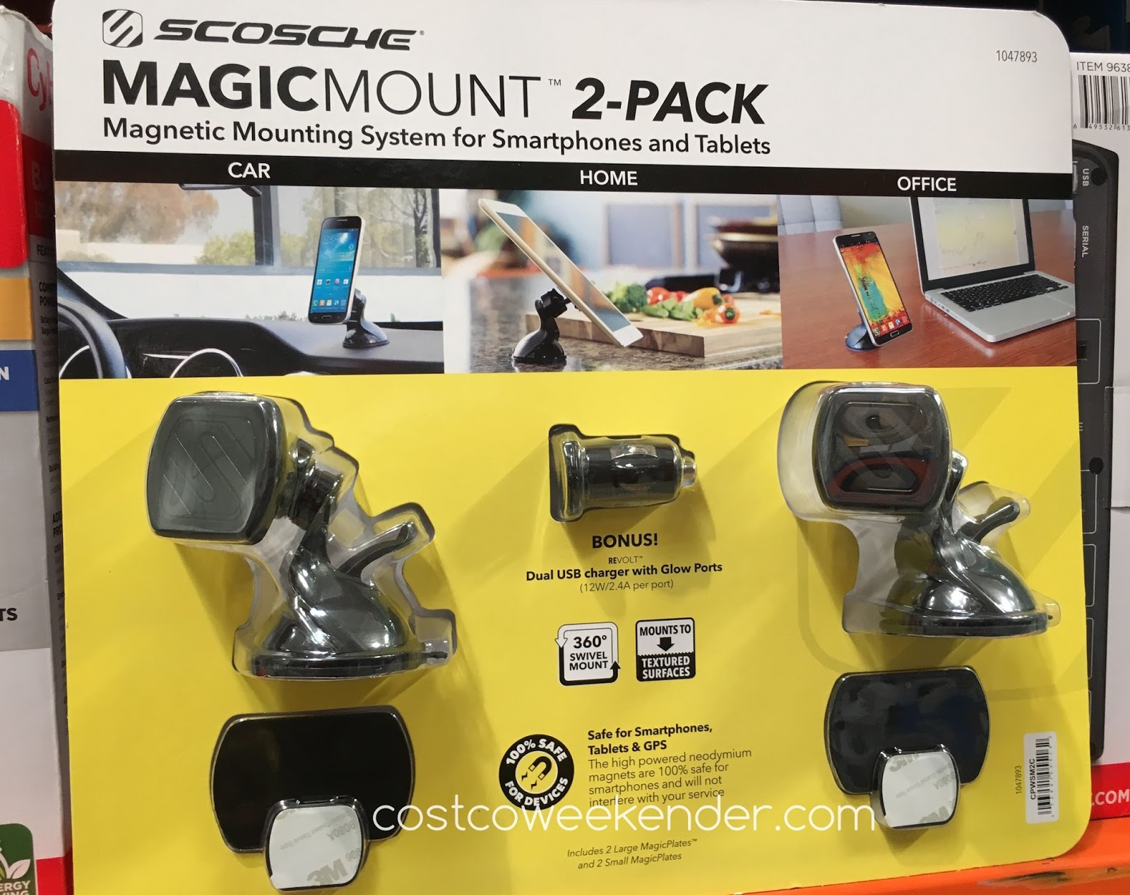 Easily view your smartphone with the Scosche MagicMount Magnetic Phone Mount