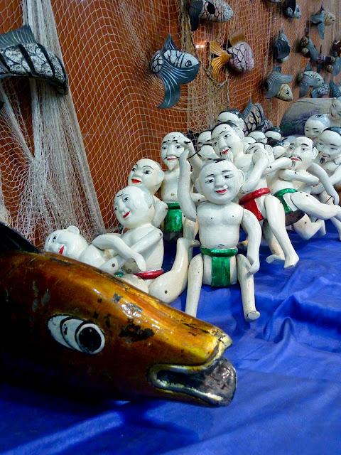 Marionetas de agua, pescadores