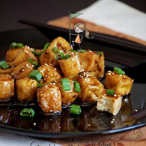Crispy Honey Garlic Tofu Bites