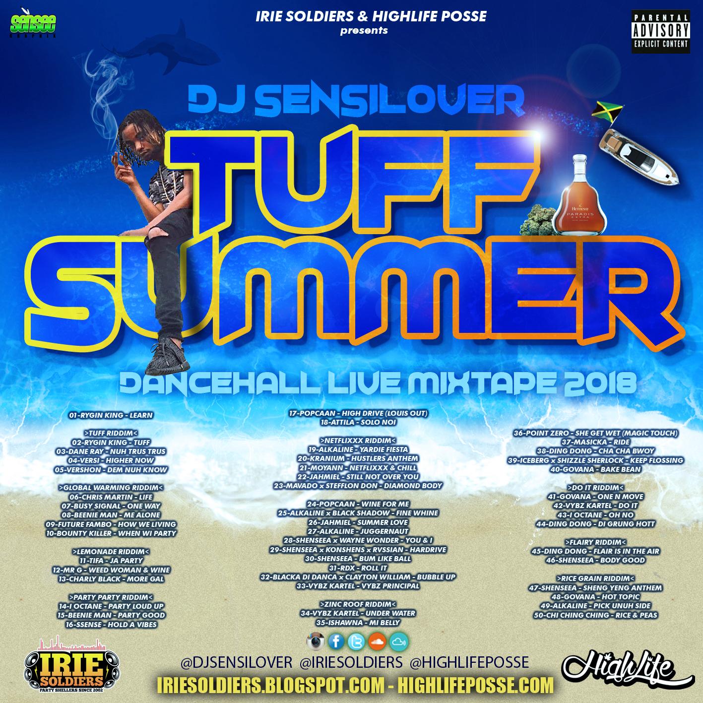 TUFF SUMMER - DANCEHALL LIVE MIXTAPE 2018 | IRIE SOLDIERS DANCEHALL