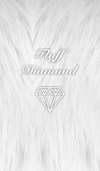 Fluff Diamond- Light gray
