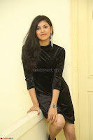 Mounika in a velvet short black dress for Tick Tack Movie Press Meet March 2017 077.JPG