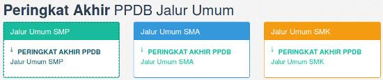 Hasil seleksi PPDB Surabaya Jalur Umum SMPN, SMAN, SMKN