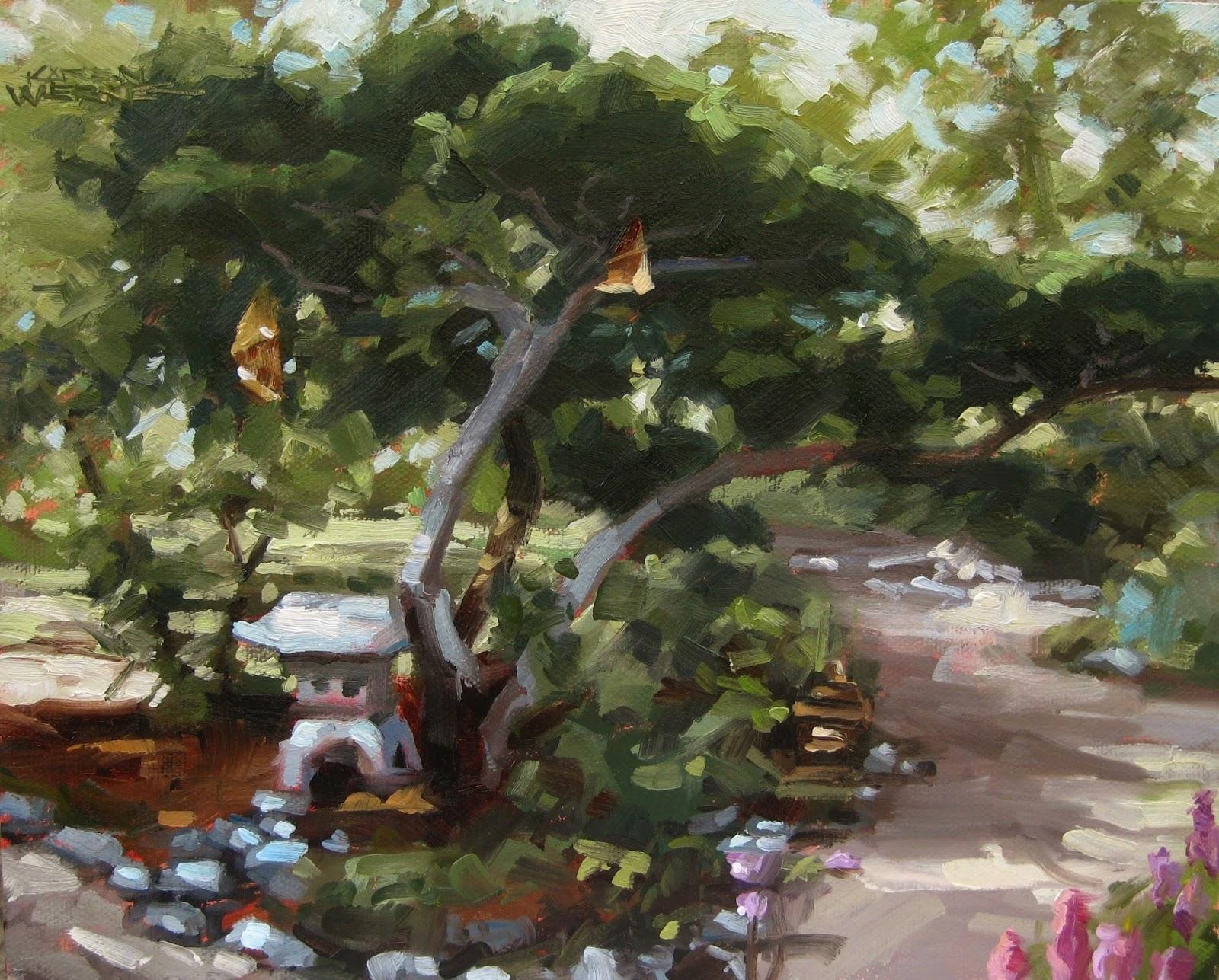 Karen Werner Fine Art Zen Garden A Landscape Painting In Oil
