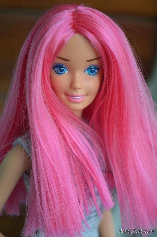 Как перепрошить кукле волосы