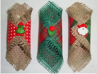 cómo hacer servilleteros navideños manualidades